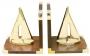 Buchstützen-Segler, Holz/Messing