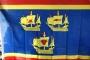 Flagge Nordfriesland 3 Koggen 150x90 cm