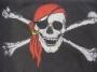 Flagge Pirat mit Kopftuch 150x90cm