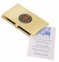 Visitenkartenbox mit Kompassrose